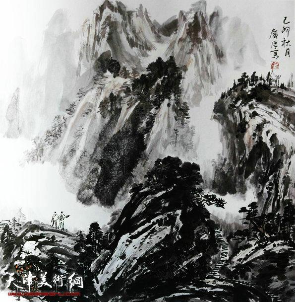 姚广厚山水作品《如梦如幻人生境》