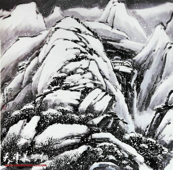 姚广厚山水作品《瑞雪》