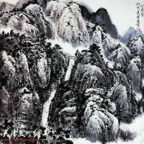 姚广厚山水作品《山居有静气》