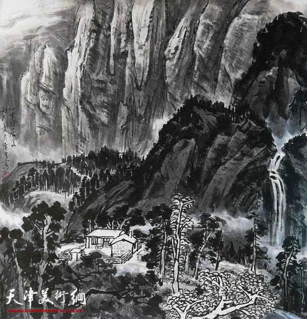 姚广厚山水作品《山中好居处》