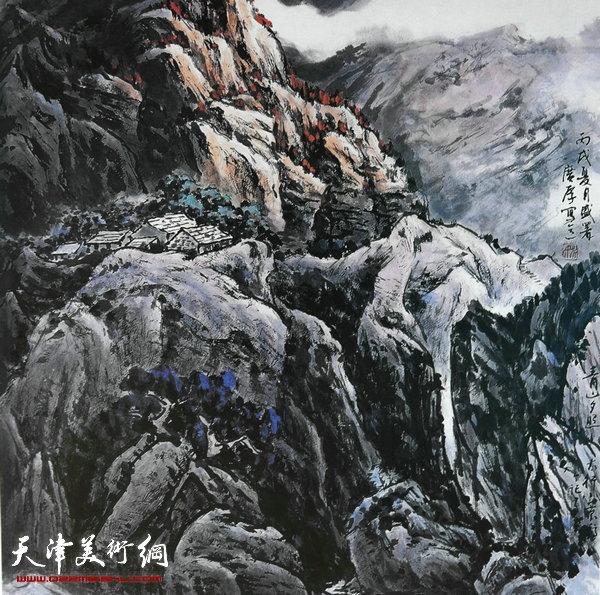 姚广厚山水作品《曙光》