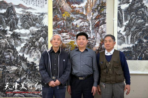 姚广厚与宋广发、张养峰在天津美术网