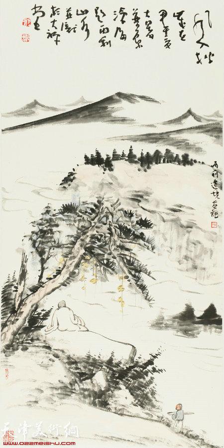 唐寅山水画砖雕屏风首次展出