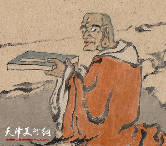 田娟作品《十八罗汉》局部