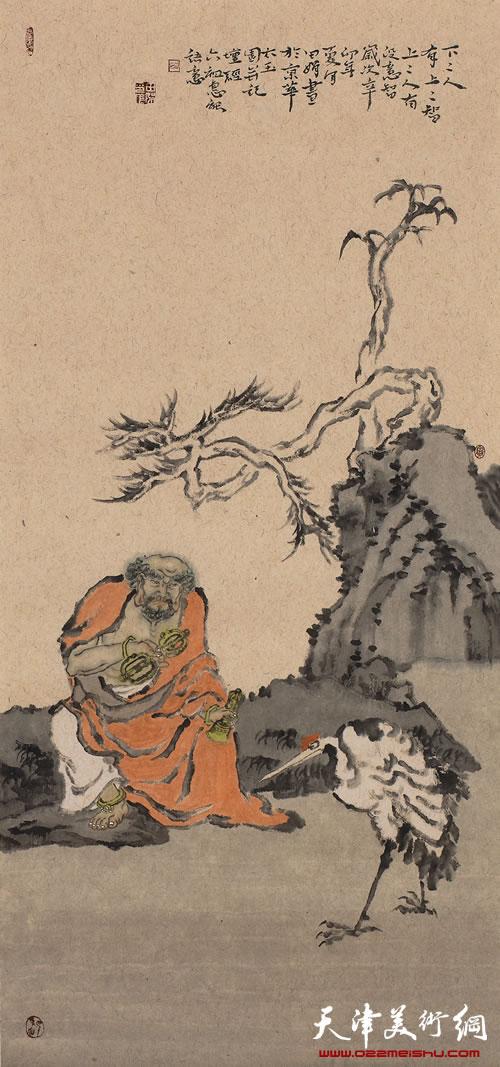 田娟作品《十八罗汉》