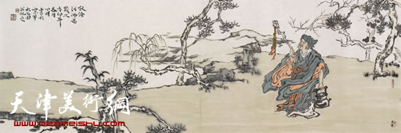 田娟作品《阮修沽酒图》