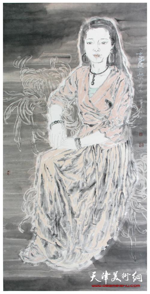 田娟作品《女人花·淡若秋水》