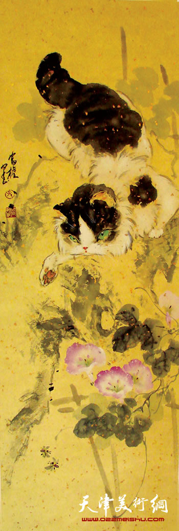 孙富泉作品《猫》