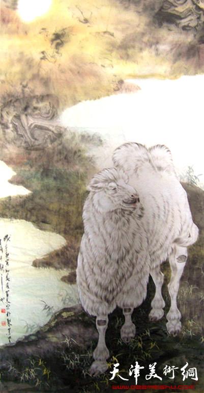 孙富泉作品《沙漠之洲》