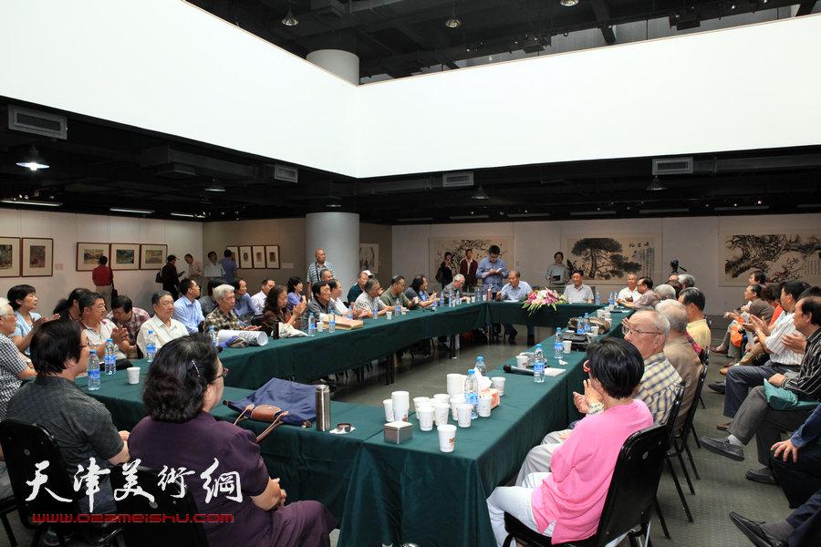 张蒲生艺术教育学术研讨会现场,图为