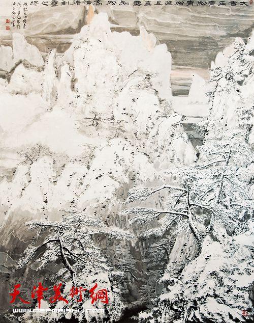 贾冰吾作品《大雪压青松》