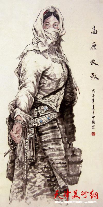 王印强作品《高原牧歌》