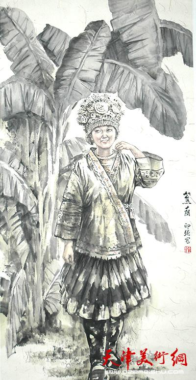 王印强作品《蕉荫》