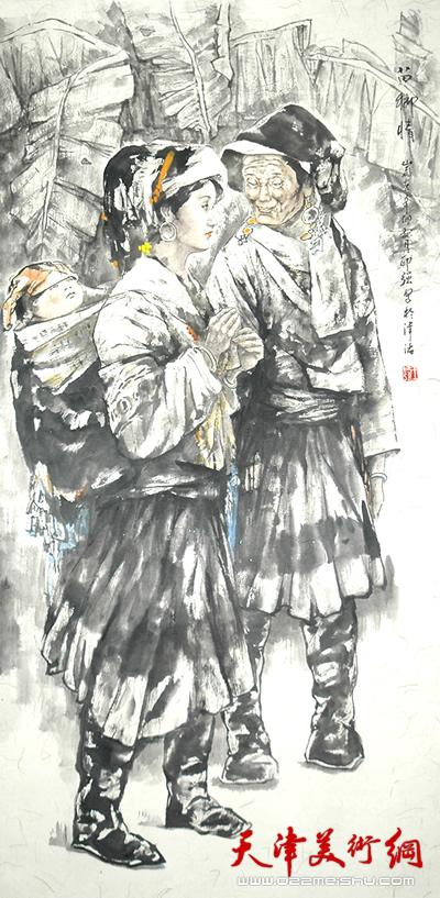 王印强作品《苗乡情》