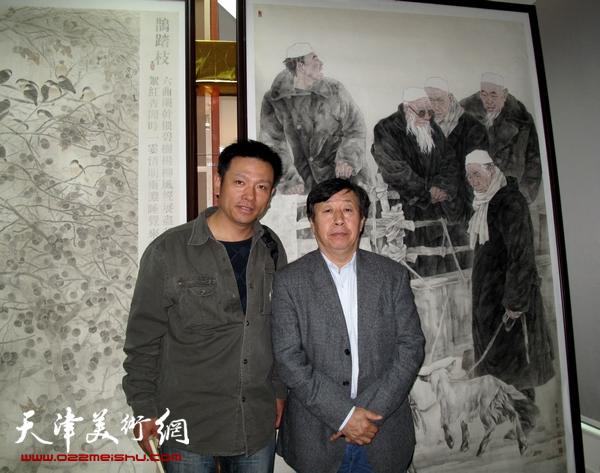 同中国美协主席刘大为先生合影
