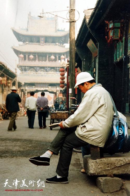 邓家驹上世纪90年代在长岛写生