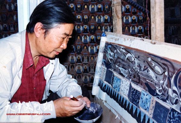 邓家驹上世纪90年代在甘肃敦煌