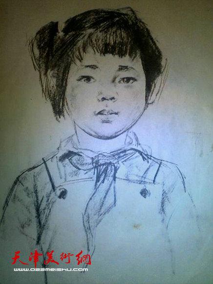 长城儿童铅笔画