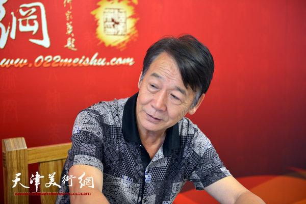 画虎名家赵玉山做客天津美术网
