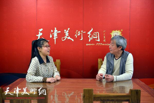 著名画家张亚光做客天津美术网