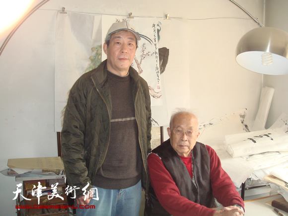 张亚光和孙其峰(右)在一起(33)