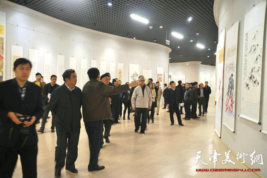 濠上观鱼―中华鱼文画书法绘画展在滨海新区开展
