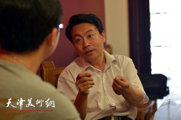 著名书法家刘俊坡做客天津美术网