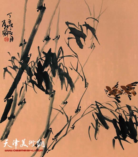 解殿卿作品《晓风妩清翠 晚烟含萧笛》