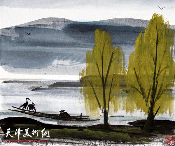 图为中国书画收藏精品展林风眠展品