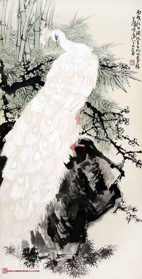 图为中国书画收藏精品展展品 何家英作品