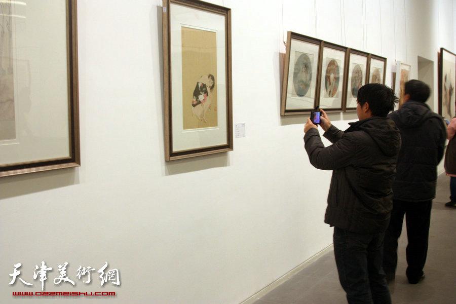 风云壮观―中国书画收藏精品展在天津美术馆开展,图为展览现场。