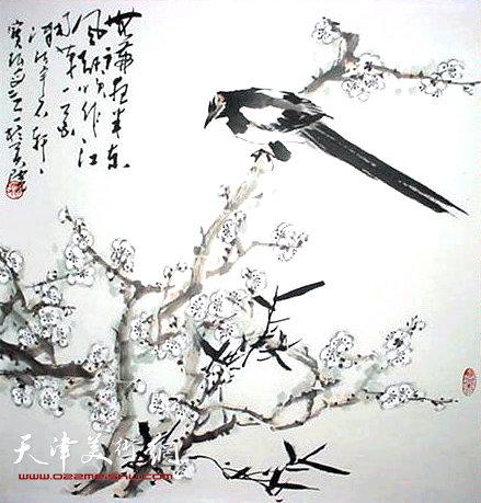 贾宝珉花鸟画作品