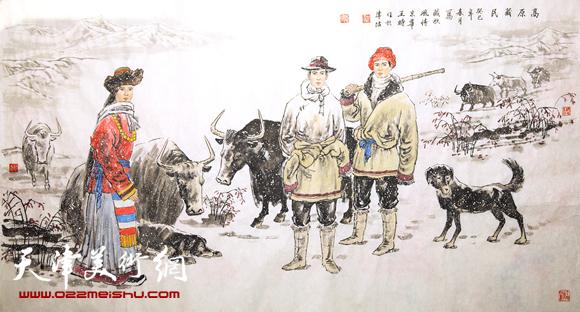 王时作品《高原藏民》