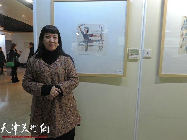 参展画家黄雅丽