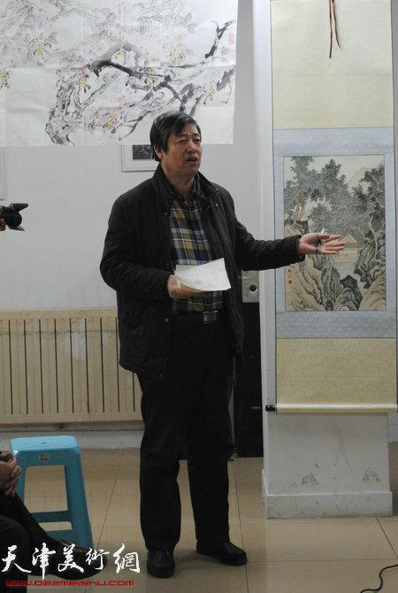 瑞江书画院副院长陈元龙教授讲话