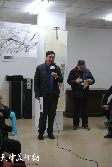 瑞江书画院艺术顾问王强先生讲话