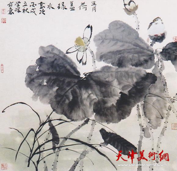 刘学峰作品《青荷盖绿水》