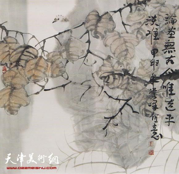 刘学峰作品《宿雨朝来秋气清》
