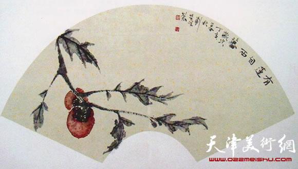 刘学峰作品《秋来果叶疏》
