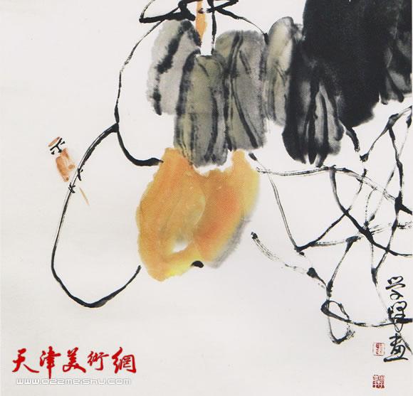 刘学峰作品《雀语声声话秋实》