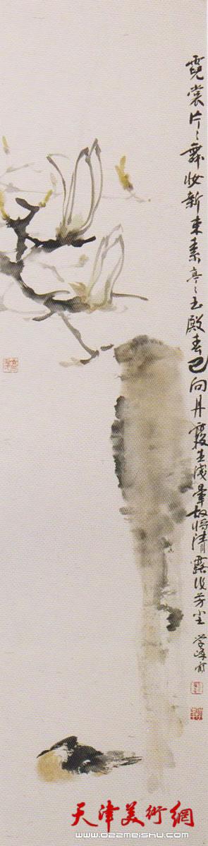 刘学峰作品《香生别院晚风微》