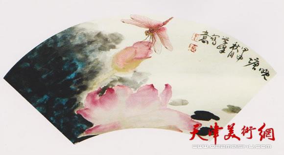 刘学峰作品《一池新水醉红莲》