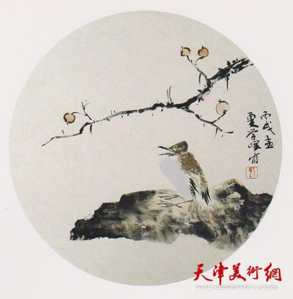 刘学峰作品《蔷薇花落起秋风》