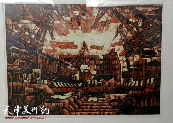 王胜红版画展展出的作品。