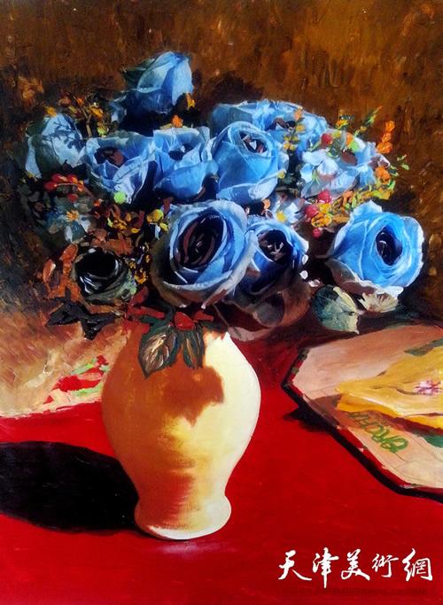 霍然油画作品《静物》