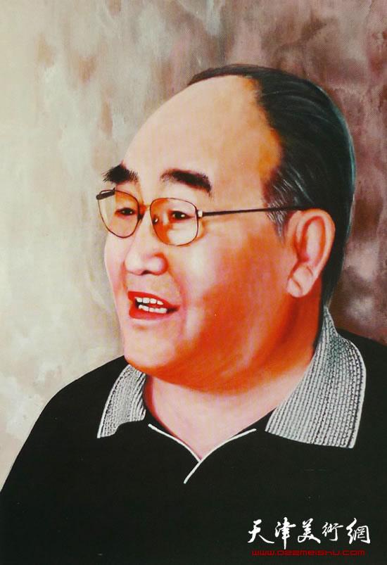 霍然油画作品《孙伯翔先生》2