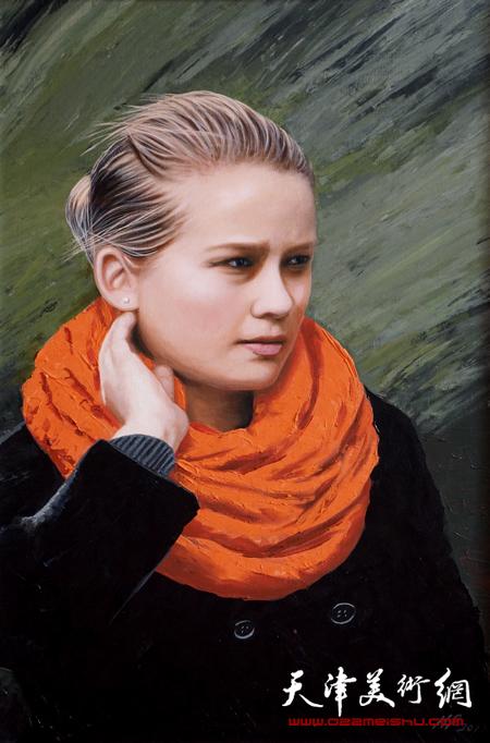 霍然油画作品《北风萧萧》