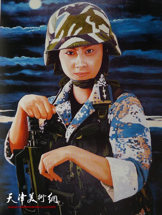 霍然油画作品《南海卫士》