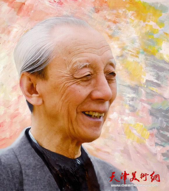 霍然油画作品《詹建俊先生》