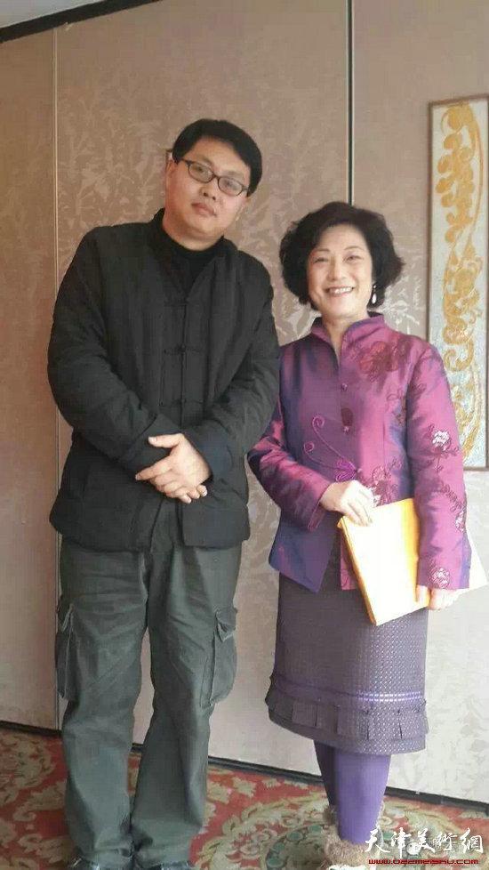 魏云飞与台北收藏家协会会长。